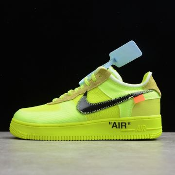 "Nike耐克OFF-WHITE × Nike Air Force 1 ""Volt"" 荧光绿   N1003 D款"